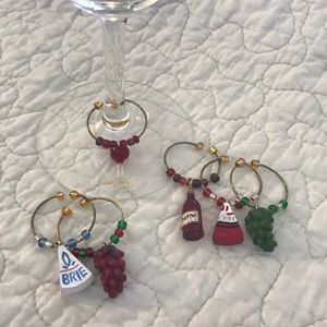 Other - 💎 Set Of 6 Wine Glass Charms